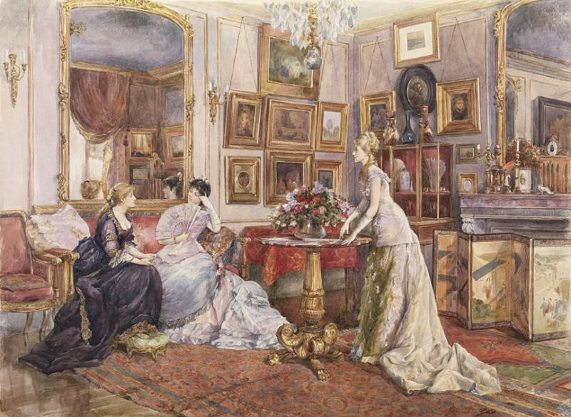 Alfred STEVENS Brussels 1823 Paris 1906 In the Painter's Drawing Room 90038 121. European art; part 1