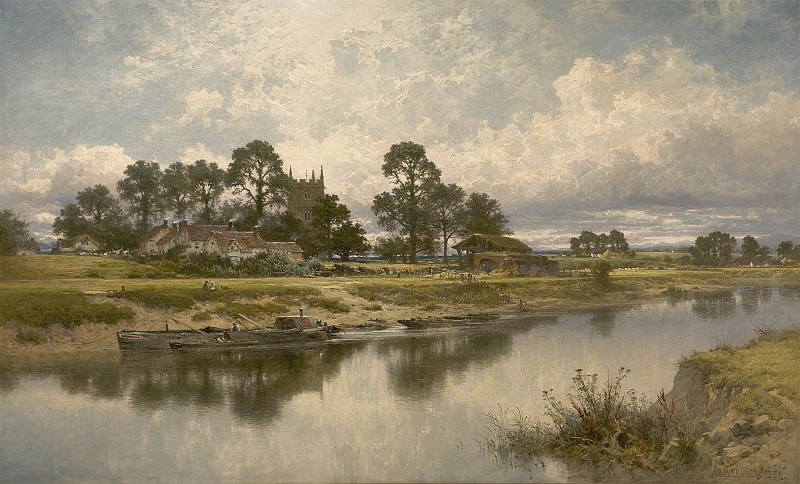 Benjamin Williams Leader Severn side Sabrinas stream at Kempsey on the river Severn 40252 20. European art; part 1