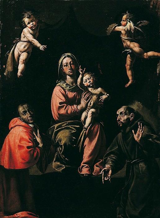 Antonio dEnrico called Tanzio da Varallo The Virgin and Child with Saints Charles and Francis 16715 203. European art; part 1