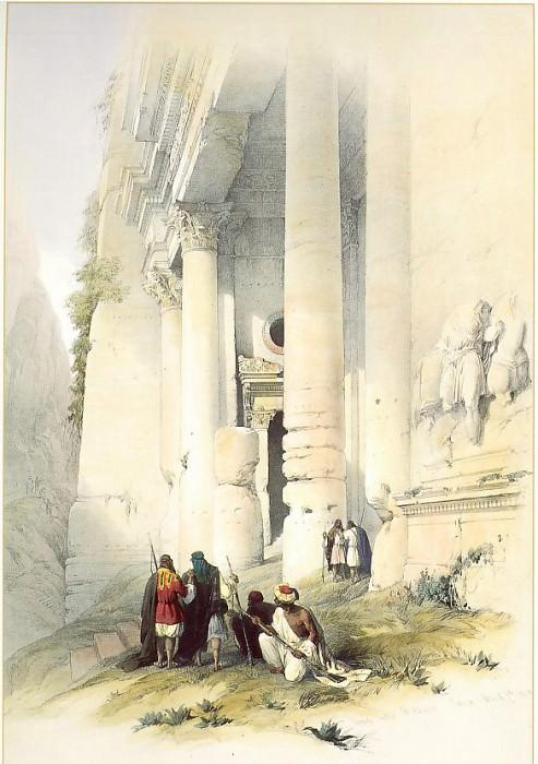 David Roberts Lower Portion of El Khasne Petra 31451 3606. European art; part 1
