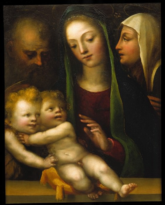 DOMENICO BECCAFUMI The Holy Family with the Infant Saint John the Baptist. European art; part 1