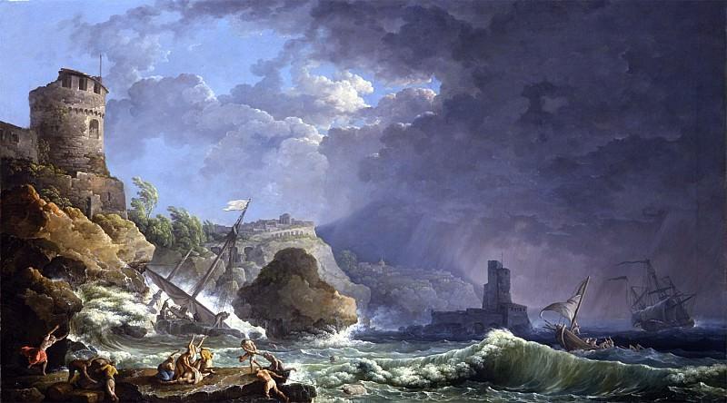 Carlo Bonavia A storm off a rocky coast 26679 172. European art; part 1