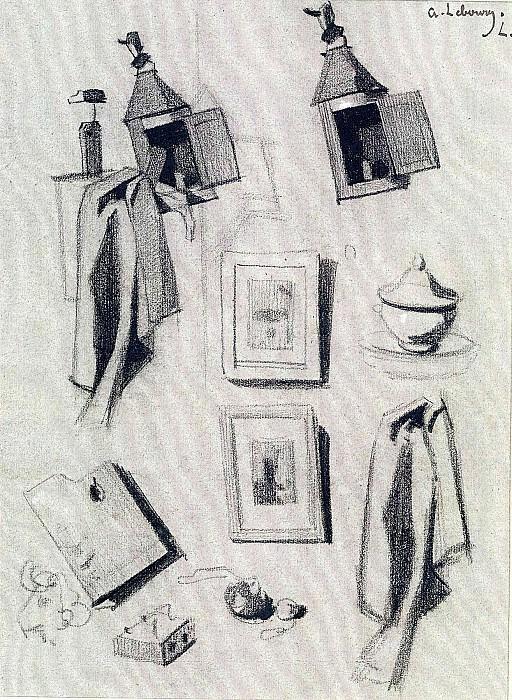 ALBERT CHARLES LEBOURG Studies for an ArtistВґs Studio 11635 172. European art; part 1