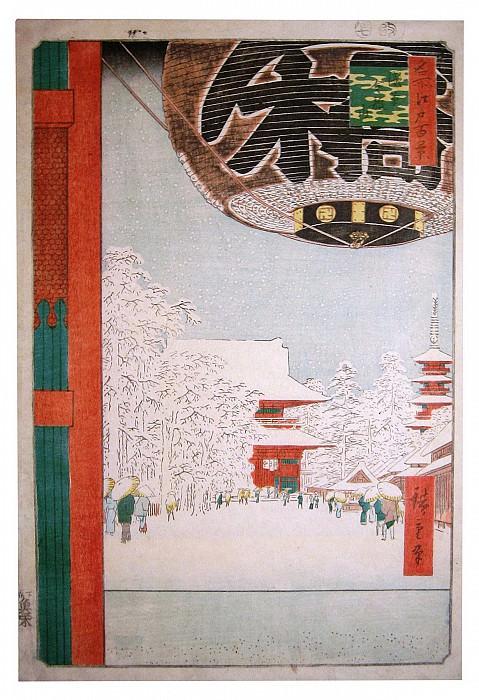Ando Hiroshige Temple under the snow 26520 686. Европейская живопись; часть 1