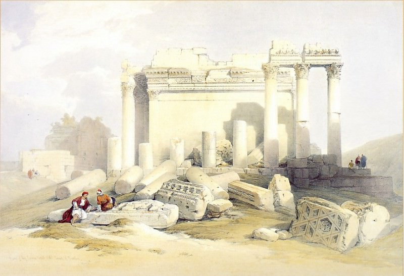 David Roberts Portion of the Eastern Portico Baalbec 39530 3606. European art; part 1