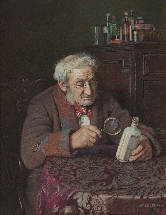 Charles Spencelayh A Touch of Rheumatism 28615 20. European art; part 1
