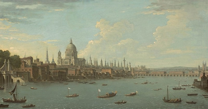 Antonio Joli A view of London & the Thames with St Pauls. European art; part 1