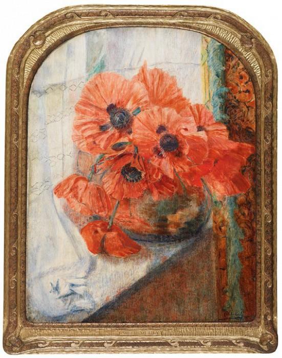 Adelin VERLY Poppies 90041 121. Европейская живопись; часть 1