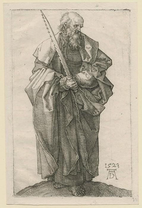 Albrecht Dürer Der Apostel Simon – Saint Simon 1523 122372 1124. European art; part 1