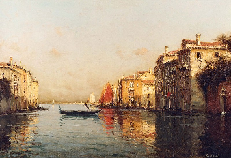Antoine Bouvard Sr The Grand Canal Venice. European art; part 1