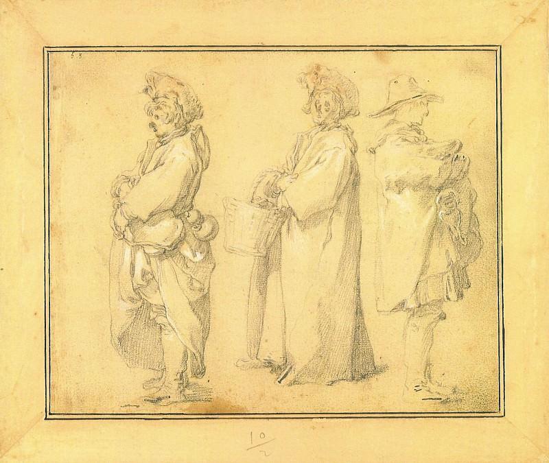 ABRAHAM BLOEMAERT Three Villagers ; View of a Village. European art; part 1