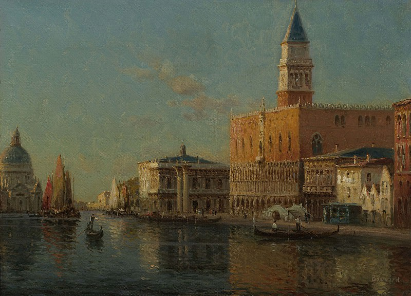 Antoine Bouvard Sr The Grand Canal & Doges Palace. European art; part 1