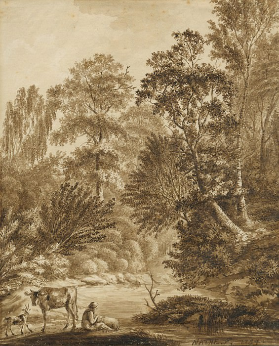 Christoph Nathe A View in the Auwald near Leipzig 1784 122565 1124. European art; part 1