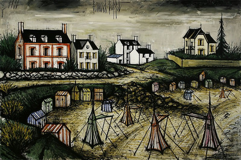 Bernard BUFFET La plage des Callots 101339 3449. European art; part 1
