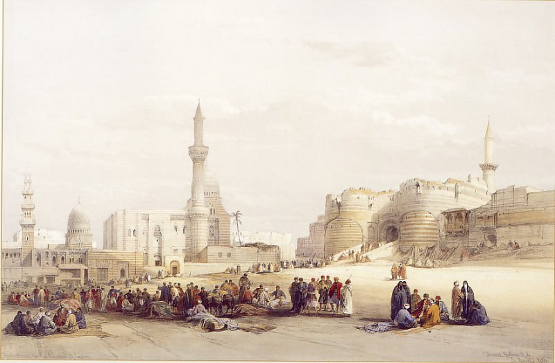 David Roberts The Entrance to the Citadel of Cairo 39532 3606. Европейская живопись; часть 1