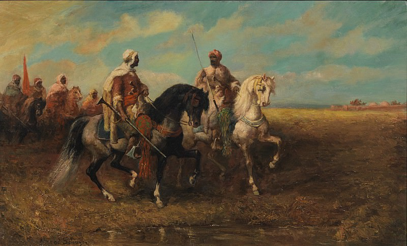 Adolf Schreyer Arab Horsemen 122514 3606. European art; part 1