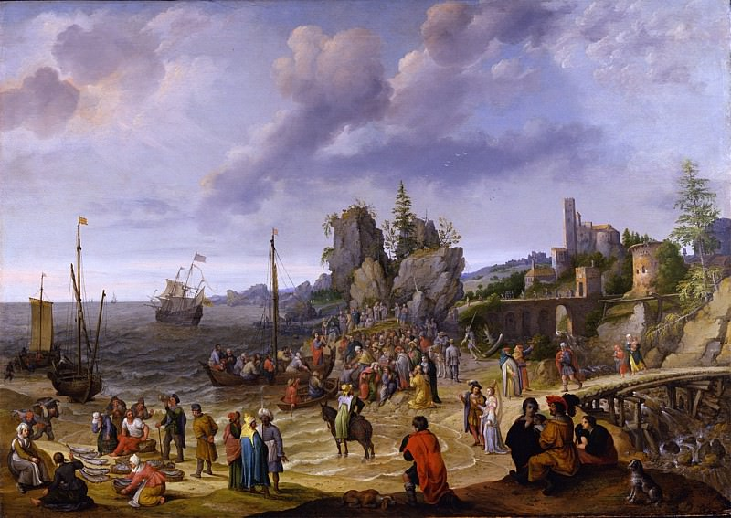 Adam Willaerts Miracle on the Beach of Gennesaret 32652 172. European art; part 1