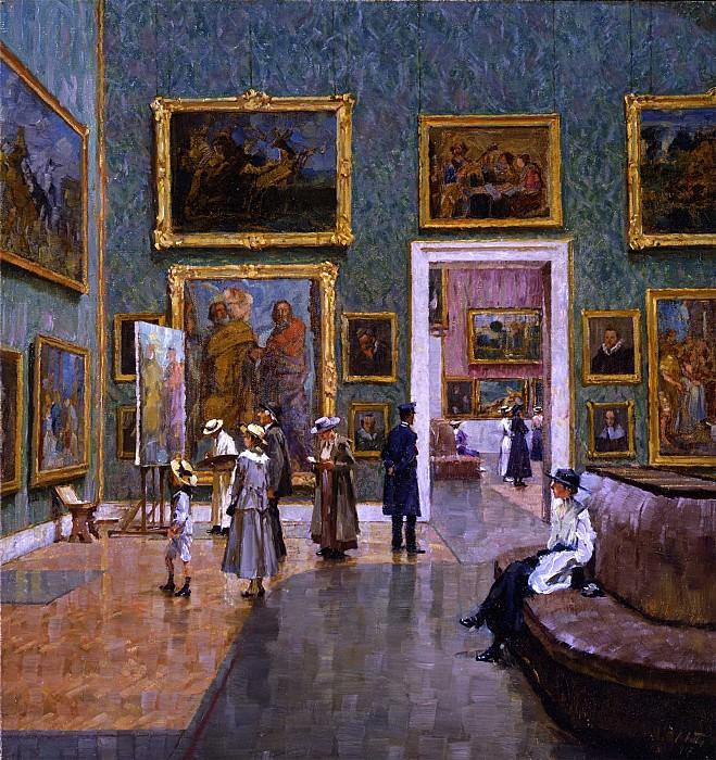 CHARLES FRIEDRICH ALFRED VETTER A Visit to the Munich Pinakothek 41219 172. Европейская живопись; часть 1