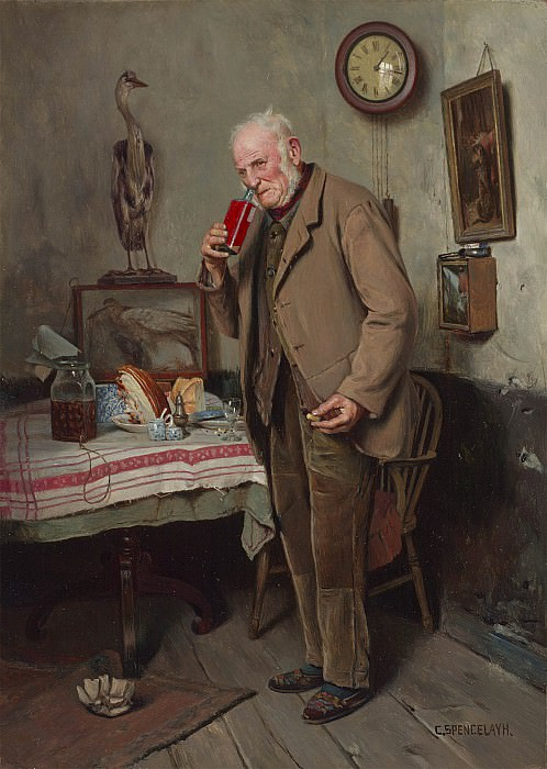 Charles Spencelayh A questionable vintage 100299 20. European art; part 1