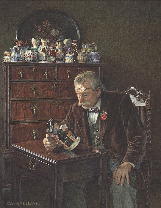 Charles Spencelayh The latest addition 28621 20. European art; part 1