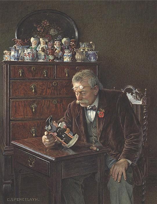Charles Spencelayh The latest addition 28621 20. Европейская живопись; часть 1