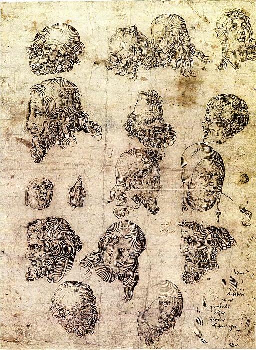 Anonymous German School Head Studies after Durer 11329 172. European art; part 1