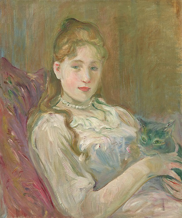 Berthe Morisot Jeune fille au chat 99619 20. European art; part 1
