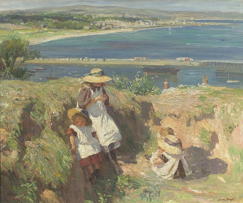 Dame Laura Knight In the sun Newlyn 99219 20. European art; part 1