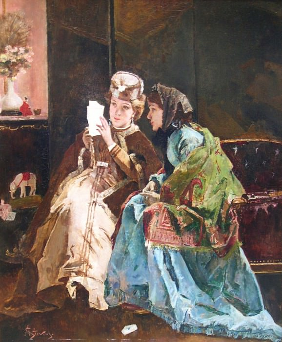 Alfred STEVENS The Pleasant letter 41705 617. European art; part 1