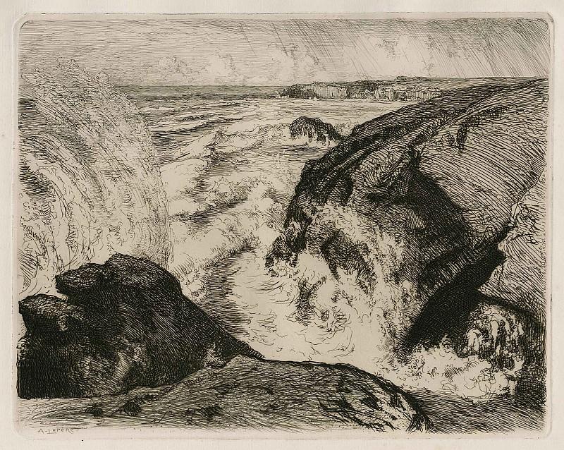 Auguste LepГЁre Grande MarГ©e au Rocher de Sion – Spring Tide at the Sion Rock 1907 123119 1124. Европейская живопись; часть 1