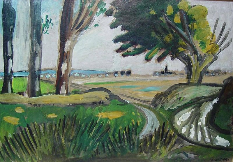 Auguste Chabaud - Way in the countryside. European art; part 1