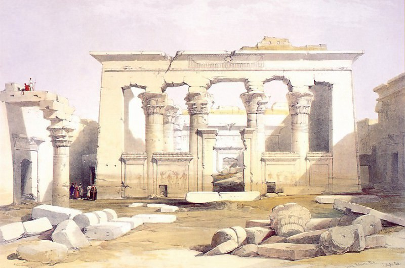 David Roberts Portico of the Temple of Kalabashe 31442 3606. European art; part 1