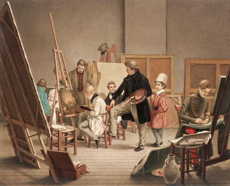 Альфонс де Лябруэ - В мастерской художника. Европейская живопись; часть 1