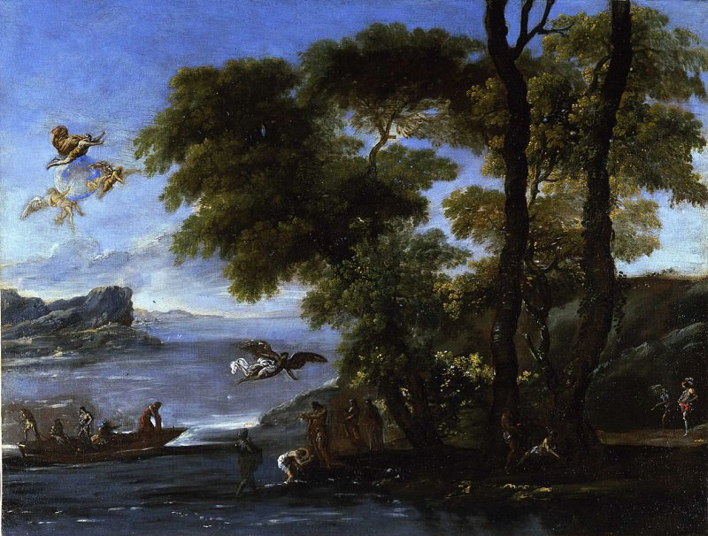 Agostino Tassi Landscape with the Baptism of Christ 16960 203. European art; part 1