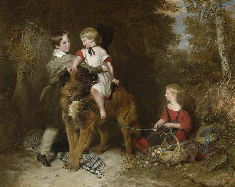 Charles Landseer Portrait of the children of Rev Edward Coleridge of Eton college 99279 20. European art; part 1 (1800 1883)