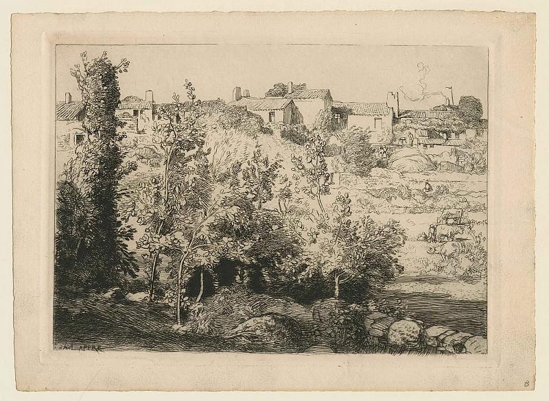 Огюст Лепер - Деревня Ламёль. Европейская живопись; часть 1