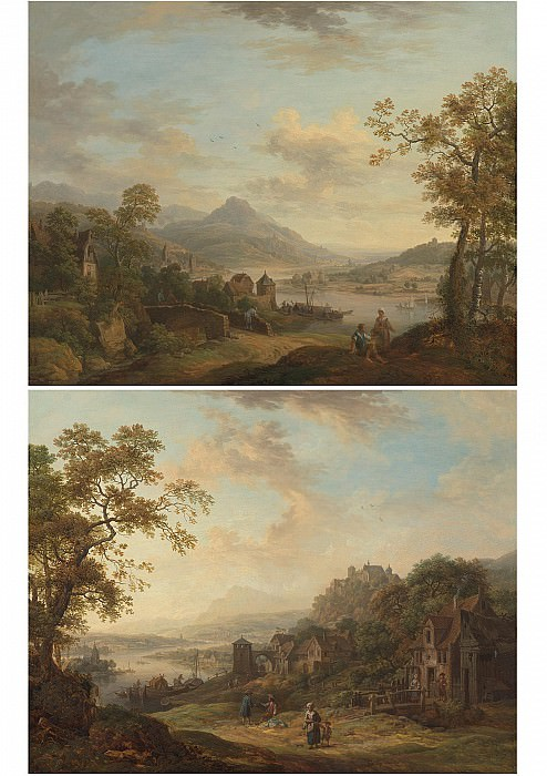 Christian Georg Schutz Rhenish landscapes 100059 20. European art; part 1