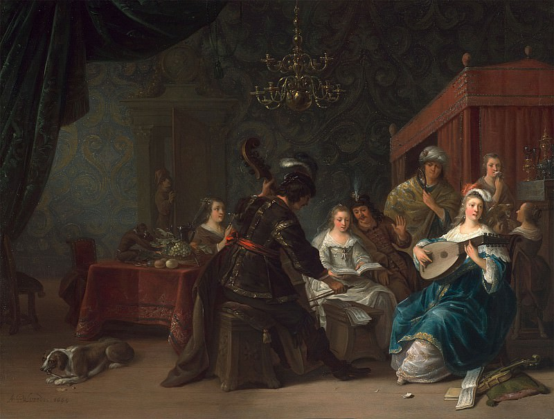 Anthonie Palamedes - A Musical Party. European art; part 1