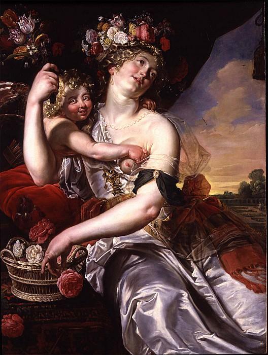 Abraham Janssens II Goddess of love goddess of flowers 32009 184. European art; part 1
