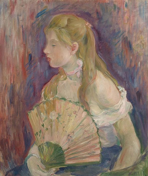 Berthe Morisot Jeune femme a leventail 99599 20. Европейская живопись; часть 1
