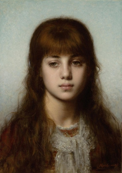 Alexei Alexeiwicz Harlamoff Study of a girl 98640 20. European art; part 1