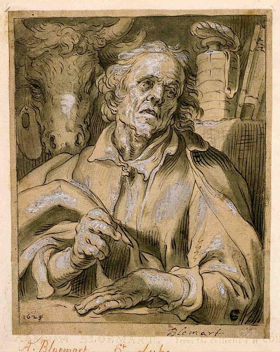 ABRAHAM BLOEMAERT Saint Luke. European art; part 1