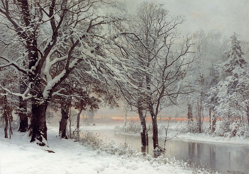 Anders Andersen Lundby A Winters Evening 12144 2426. European art; part 1