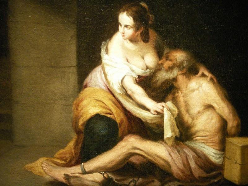 BARTOLOME ESTEBAN MURILLO Roman Charity 32991 316. Европейская живопись; часть 1