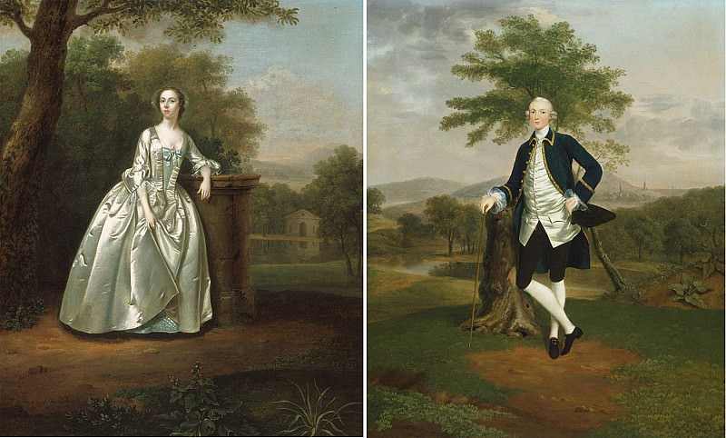 Arthur Devis Portraits of Mr & Mrs Edward Travers 31555 20. European art; part 1