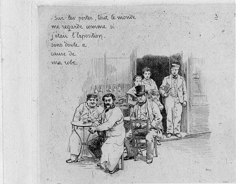 Adolphe Martial Potémont called Martial Notes and drawings by a Japanese man about Paris in 1878 during the World's Fair 1878 122999 1124. European art; part 1