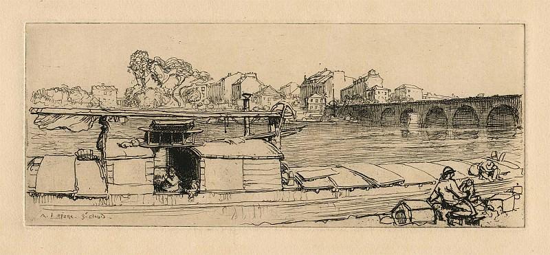 Auguste Lepere - The Bridge at Saint Cloud. European art; part 1