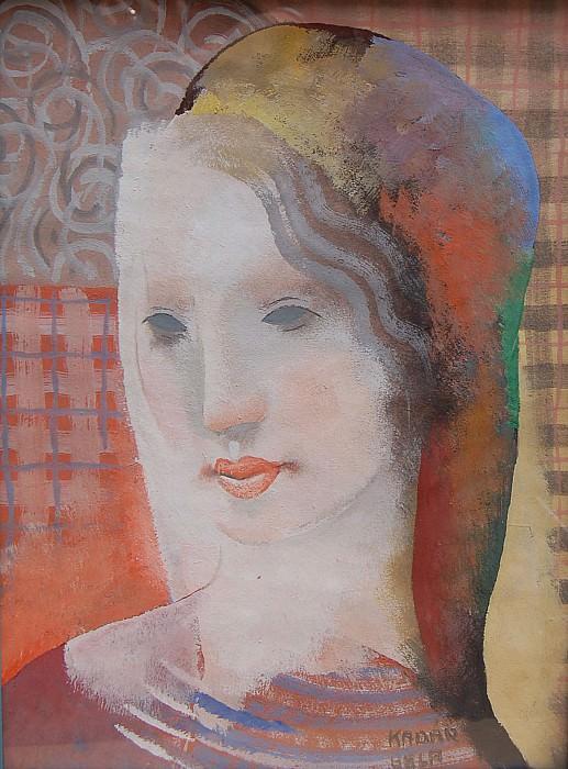 Bela Kadar Portrait de jeune femme 31459 1184. European art; part 1