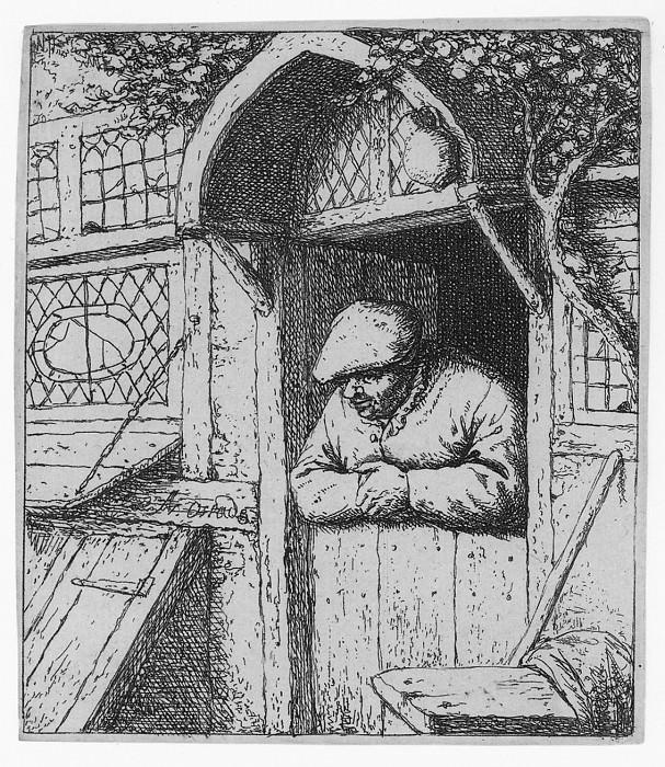 Adriaen van Ostade Peasant leaning on his Doorway 17203 1124. European art; part 1