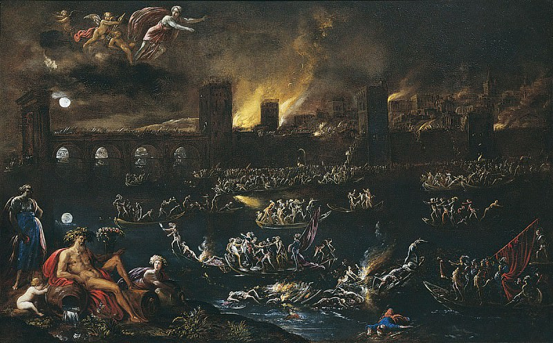 Agostino Tassi The Siege of a City 16727 203. European art; part 1